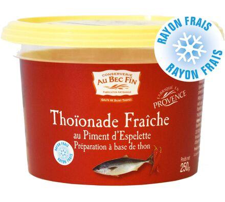 Thoïonade fraîche au piment d'Espelette préparation à base de thon