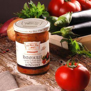 Ratatouille cuisinée à l'huile d'olive et aux légumes frais de Provence