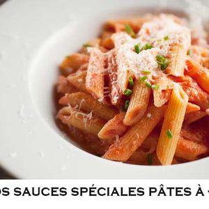 -20% sur les sauces spéciales Pâtes!!